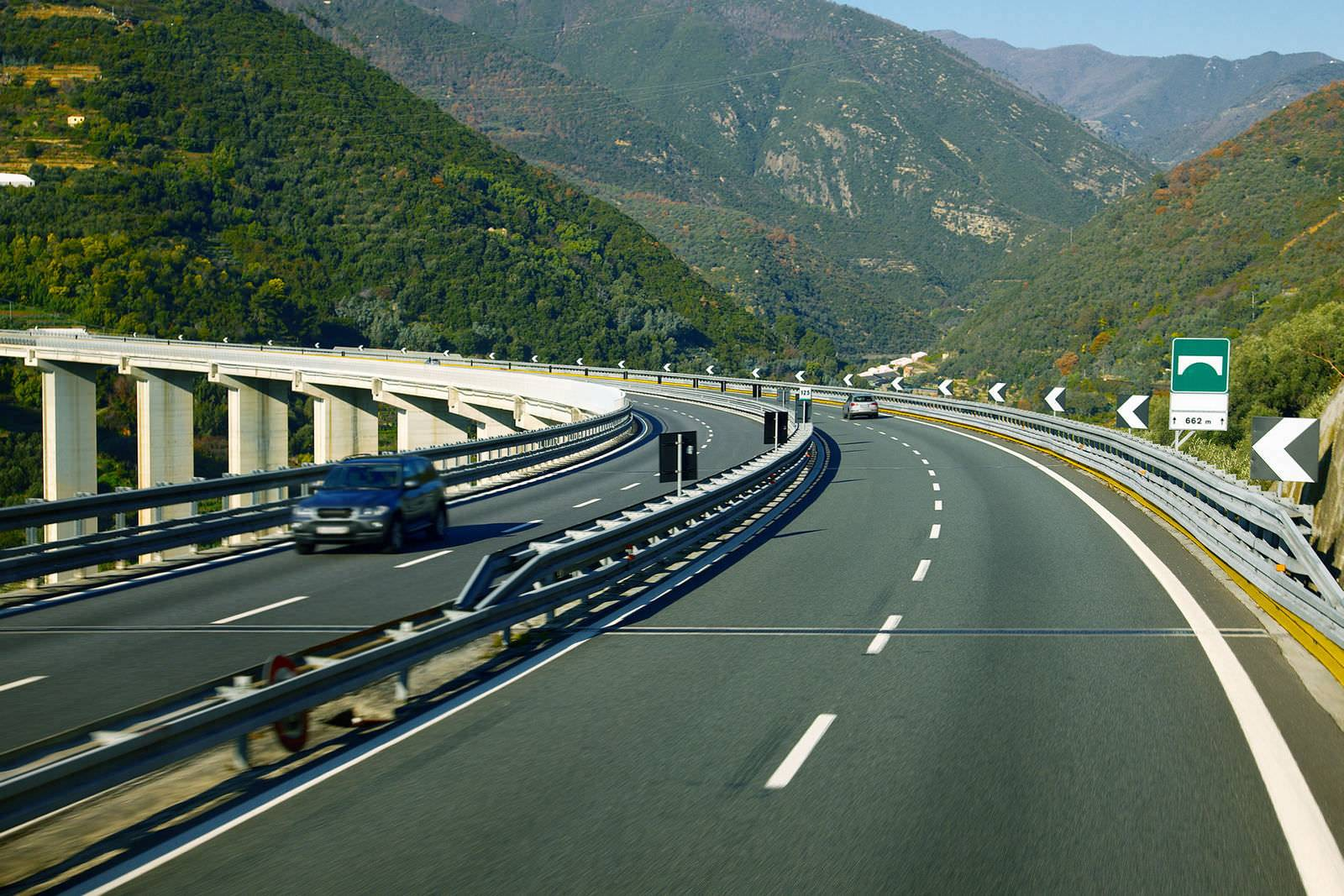 Roads, highways, viaducts, bridge and infrastructure related to transport