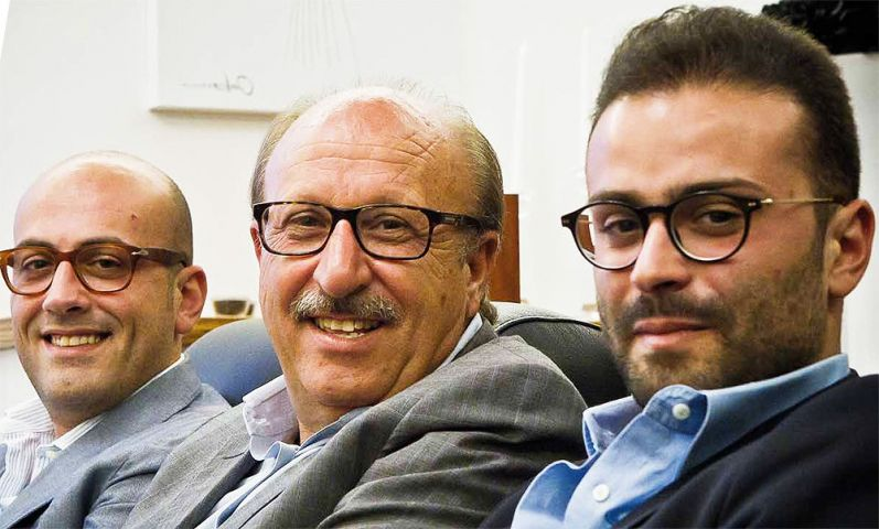 Da sinistra: Giorgio, Giuseppe, Gian Luca Zaccaria   Foto per Freetime di Francesco Lucifora